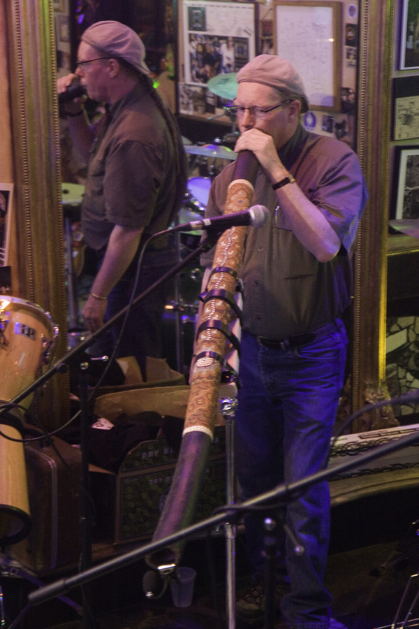 John F. Heusler G. G. Playing His Didgeridoo