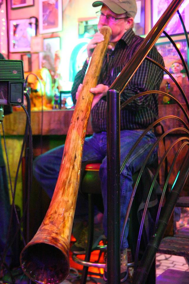 John F. Heusler G. G. Playing Didgeridoo at the Venice Cafe
